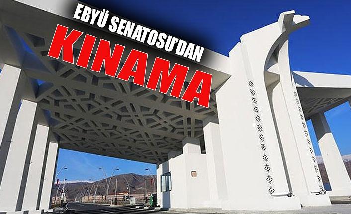 EBYÜ Senatosu ' İşgalci Ermenistan'ın saldırıları kabul edilemez'