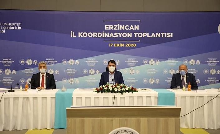 Bakan Kurum, Erzincan'da İncelemelerde Bulundu