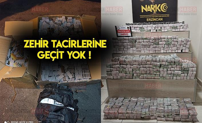 Erzincan'da 124 bin 260 adet Sentetik hap ele geçirildi