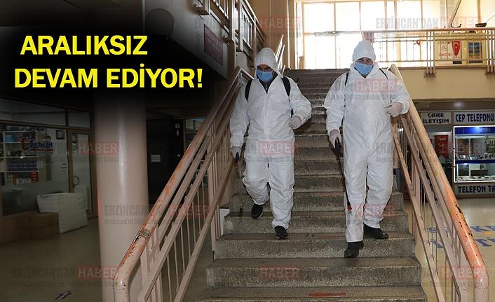 Erzincan'da dezenfekte çalışmaları devam ediyor
