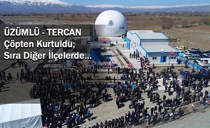 Erzincan'ın ilçelerinde vahşi çöp depolama sorunu bitiyor