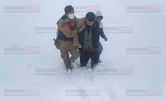 Köy kırsalında donma tehlikesi geçiren kişi kurtarıldı