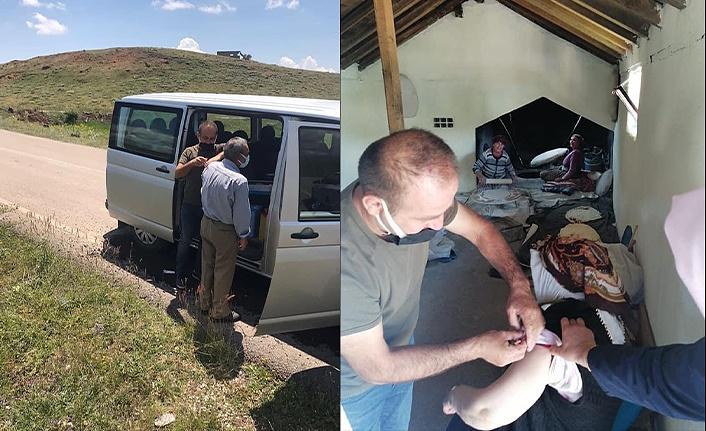 Aşı ekipleri köy köy geziyor