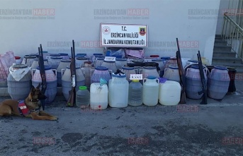 2 Bin 102 litre sahte ve kaçak alkol ele geçirildi
