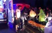 Kayganlaşan yolda takla attı: 3 yaralı