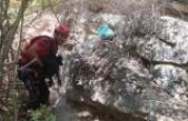 Kayalıklarda mahsur kalan 11 keçi kurtarıldı