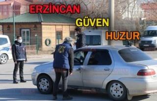 Erzincan'da Güven ve Huzur Uygulaması Yapıldı