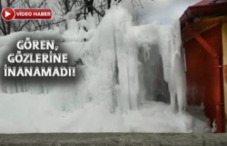 Boru Patladı, Metrelerce Buz Kütlesi Oluştu