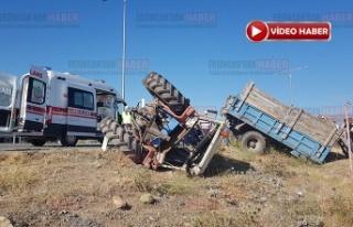 Tarım işçilerini taşıyan traktör ile tır çarpıştı:2...