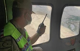 Erzincan'da helikopterli trafik denetimi