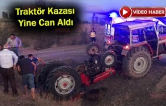 Devrilen traktörün altında kalan sürücü öldü